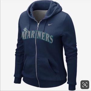 NIKE Seattle Mariners Full Zip Navy Hoodie -Small